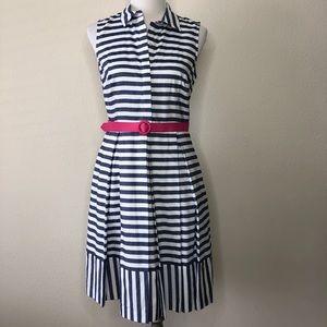 Eliza J Striped fit n flair shirt dress